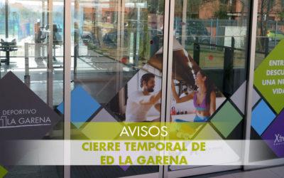 Cierre temporal de E.D. La Garena – Ampliación de info
